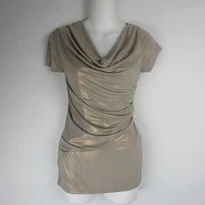 Trendy  Ruched Shimmery Blouse